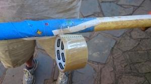 Taping watering tube